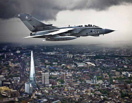 Tornado G4 over London, courtesy of the Ministry of Defence